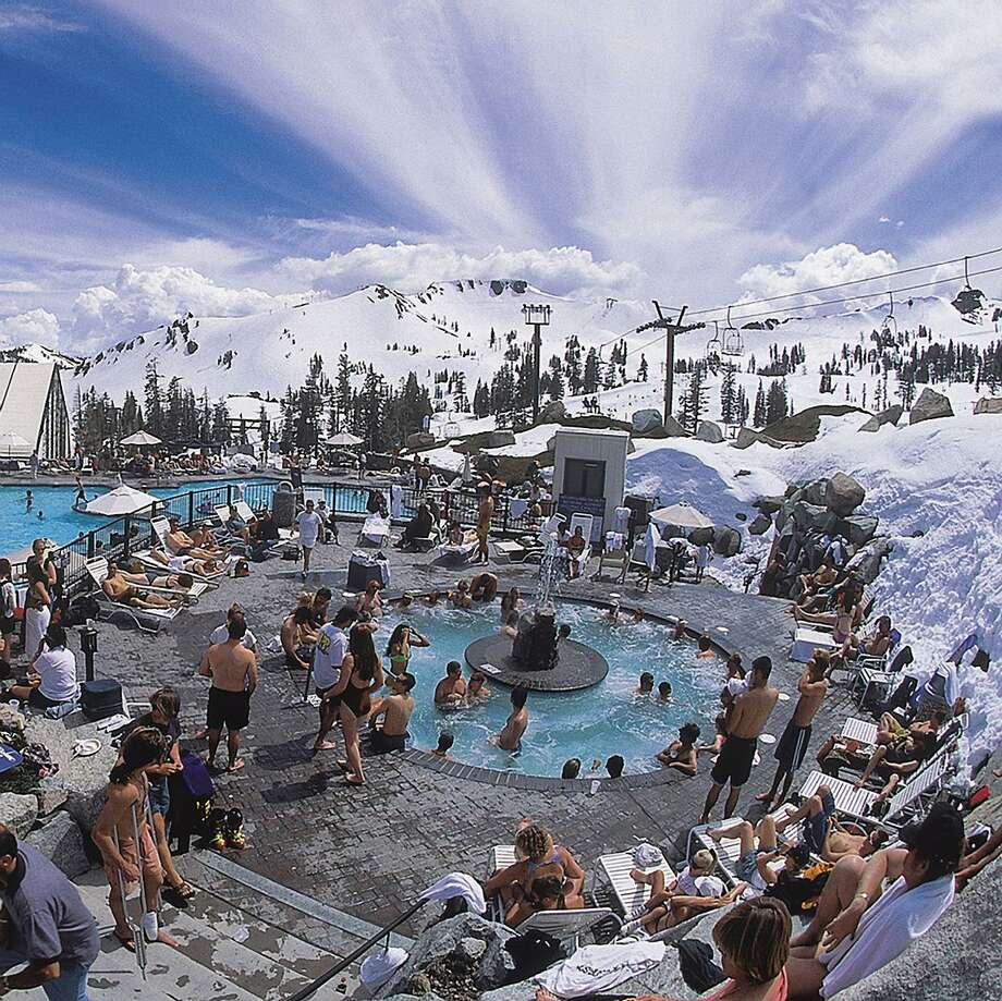 The 50-person hot tube at Squaw Valley's High camp opens for the spring season on St. Patrick's Day weekend. Photo: Squaw Valley Alpine Meadows