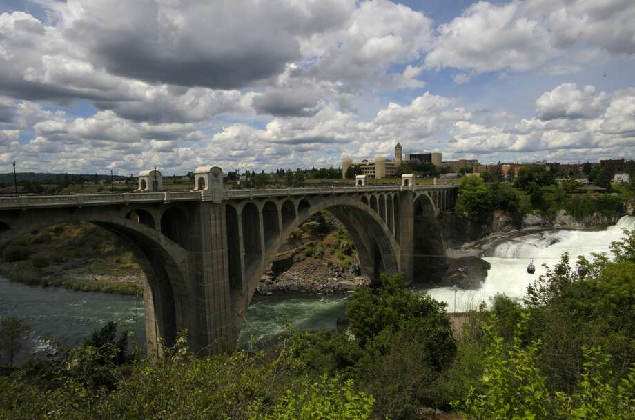 UNITED STATES - 2009/06/20: USA, Washington State, Spokane, Riverfront Park, Spokane River, Monroe Street Bridge, Built 1909. (Photo by Wolfgang Kaehler/LightRocket via Getty Images) Photo: Wolfgang Kaehler/LightRocket Via Getty Images