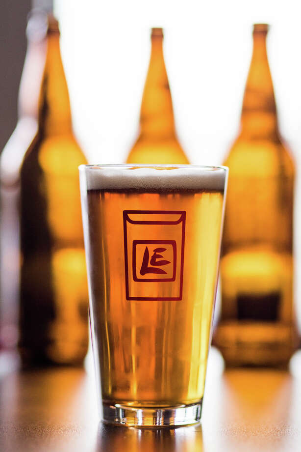 Lucky Envelope Brewing's famed ENIAC Mosaic IPA, photographed at their brewhouse in Ballard on Tuesday, March 28, 2017. (GRANT HINDSLEY, seattlepi.com) Photo: GRANT HINDSLEY/SEATTLEPI.COM