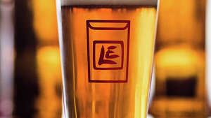 Lucky Envelope Brewing's famed ENIAC Mosaic IPA, photographed at their brewhouse in Ballard on Tuesday, March 28, 2017. (GRANT HINDSLEY, seattlepi.com)