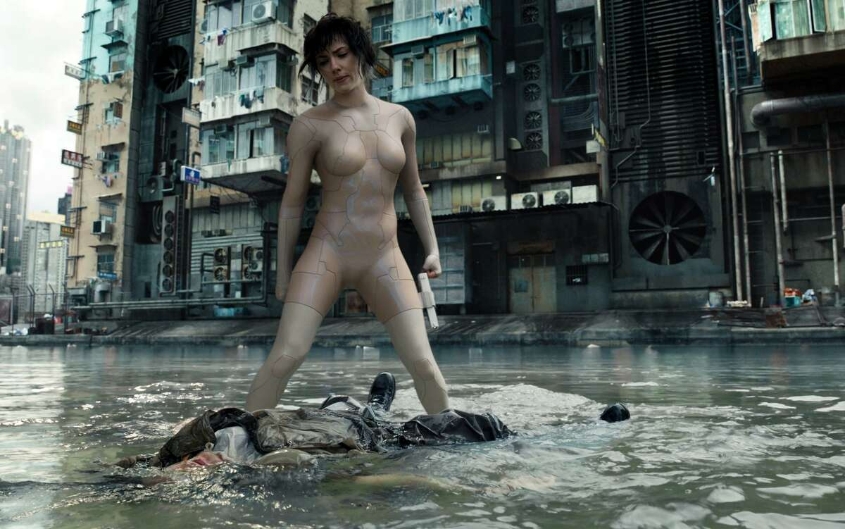 """Scarlett Johansson stars as Major in the live-action version of the popular anime """"Ghost in the Shell."""""""