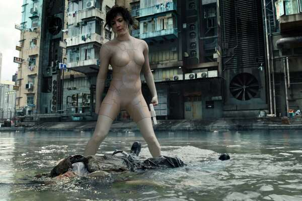 "Scarlett Johansson stars as Major in the live-action version of the popular anime ""Ghost in the Shell."""