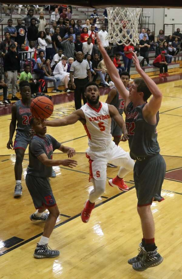 Stafford senior Desmond Mathis earned District 25-4A MVP and TABC all-region honors after leading the Spartans to an undefeated district championship and two playoff victories. Photo: Stafford MSD