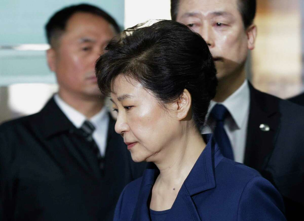 Former South Korean President Park Geun-hye was questioned at a court hearing for nearly nine hours. As she left for the hearing, hundreds of hear supporters, many of them elderly citizens, gathered at her private Seoul home.