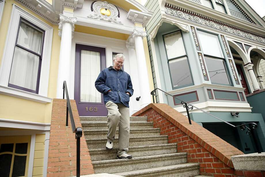 Terry Casey lives in an 1895 Victorian that stands where right field of the Haight Street Grounds used to be in San Francisco, Calif., on Wednesday, March 15, 2017. Photo: Scott Strazzante, The Chronicle
