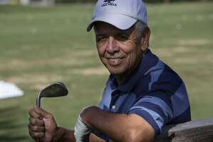 A portrait of Ray Cevallos, cancer survivor and former San Antonio senior golf champion at the Oak Hills Country Club, Tuesday, July 28, 2009. JERRY LARA/glara@express-news.net