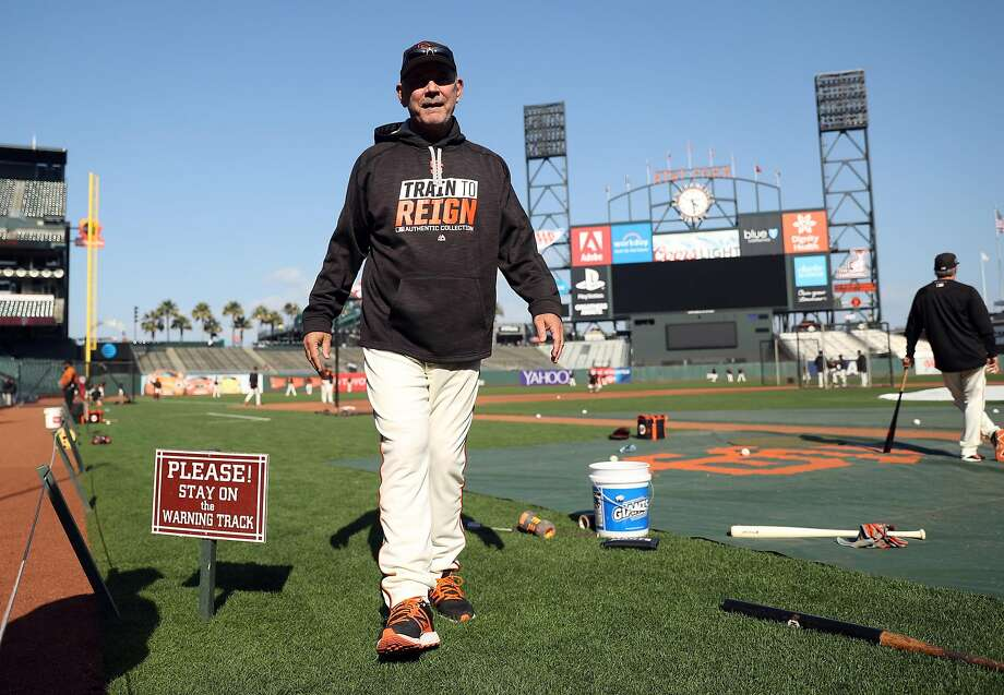 San Francisco Giants' manager Bruce Bochy before playing Oakland Athletics in Bay Bridge Series begins at AT&T Park in San Francisco, Calif., on Thursday, March 30, 2017. Photo: Scott Strazzante, The Chronicle