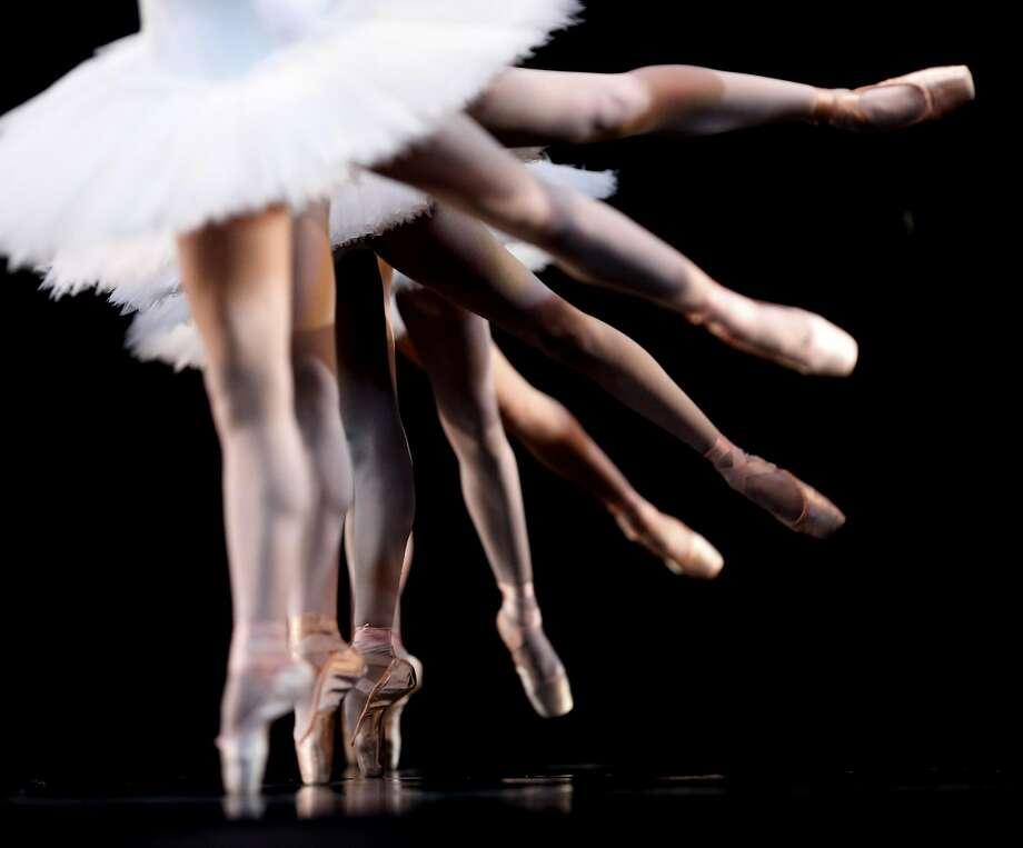 "The San Francisco Ballet rehearses ""Swan Lake"" at the War Memorial Opera House on Thursday, March 30, 2017, in San Francisco, Calif. Photo: Natasha Dangond, The Chronicle"