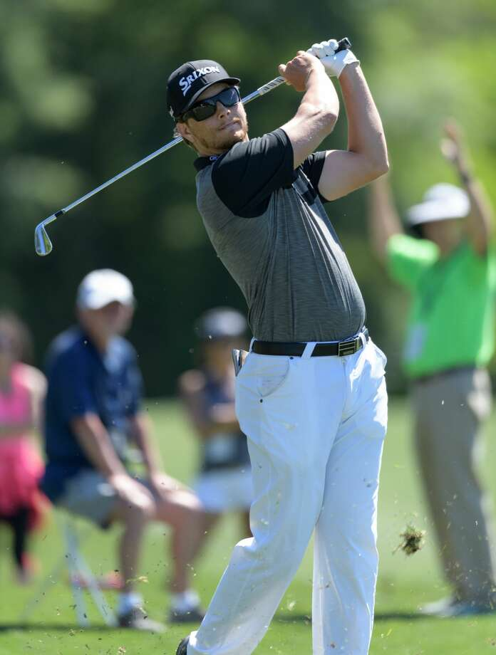 Chris Stroud hitting from the 6th hole fairway during the first round of the Shell Houston Open on Thursday, March 30, 2017 at The Golf Club of Houston in Humble Texas. Photo: Wilf Thorne/For The Chronicle