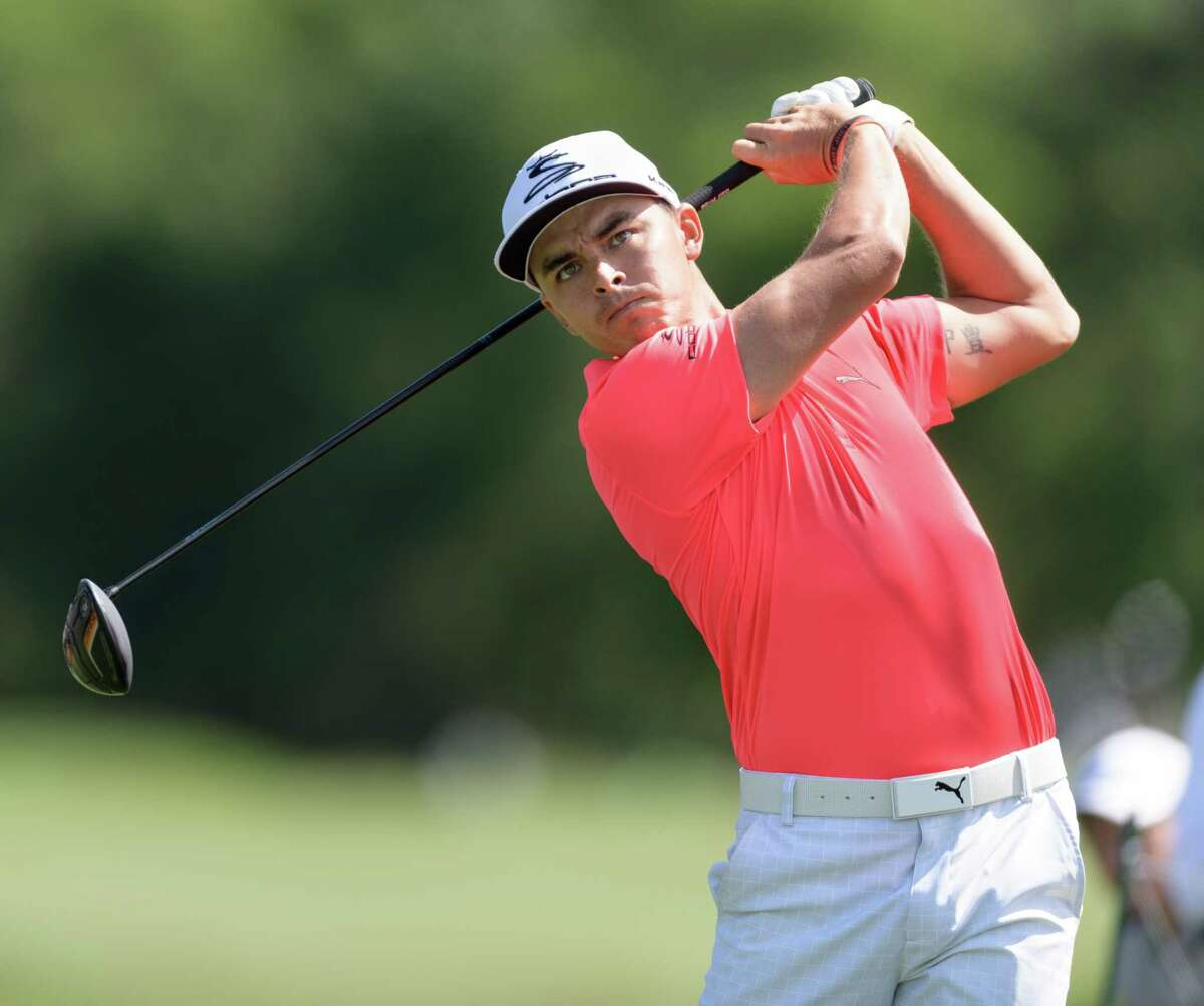 Rickie Fowler drills a drive off the second tee during Thursday's opening round of the Shell Houston Open. The American is ranked ninth in the world.