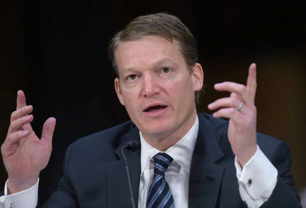 Kevin Mandia, Chief Executive Officer of FireEye, testifies before the Senate Intelligence Committee hearing on Capitol Hill in Washington, Thursday, March 30, 2017, on Russian intelligence activities. (AP Photo/Susan Walsh)