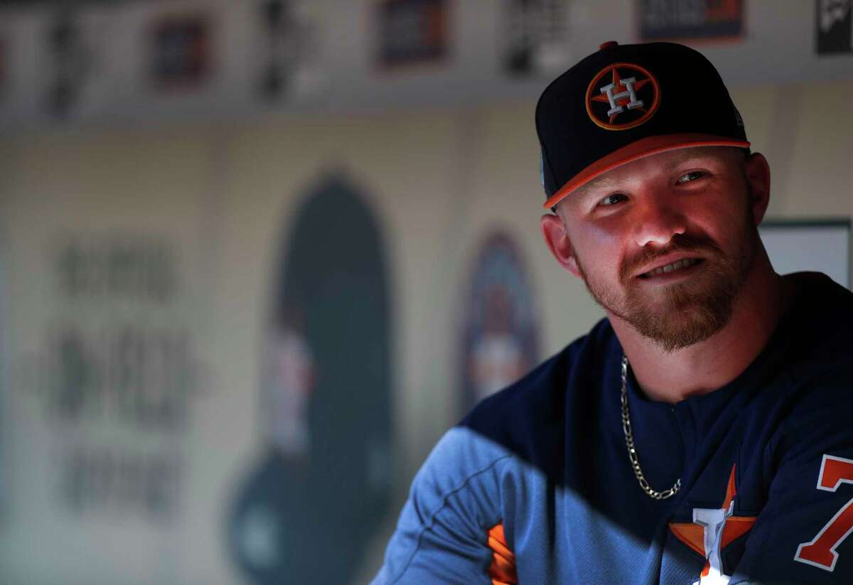 Derek Fisher will begin 2017 in Class AAA but is with the Astros for their exhibitions vs. the Cubs.