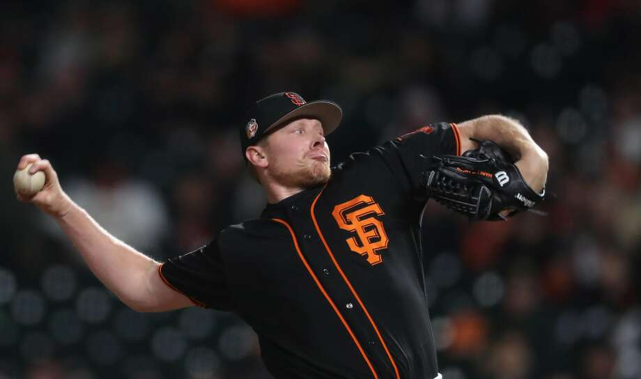 Giants' closer Mark Melancon in the ninth inning, as the San Francisco Giants went on to beat the Oakland Athletics 3-0 in pre-season action at AT& Park  in San Francisco, Ca.as seen on Thurs. Mar. 30, 2017. Photo: Michael Macor / The Chronicle