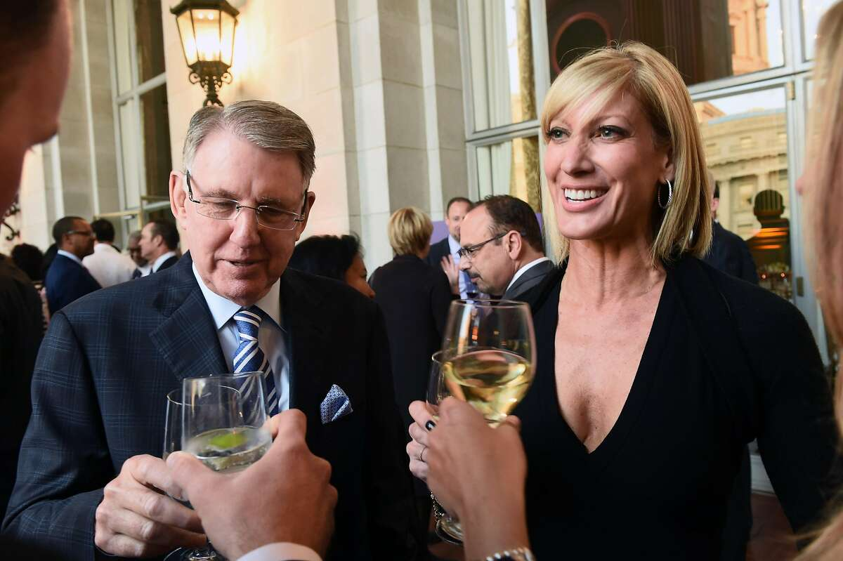 Clint and wife Janet Reilly attend the reception of the Visionary of the Year Awards Gala at the War Memorial in 2017. Clint Reilly, a magazine publisher, got SF Weekly in the deal.