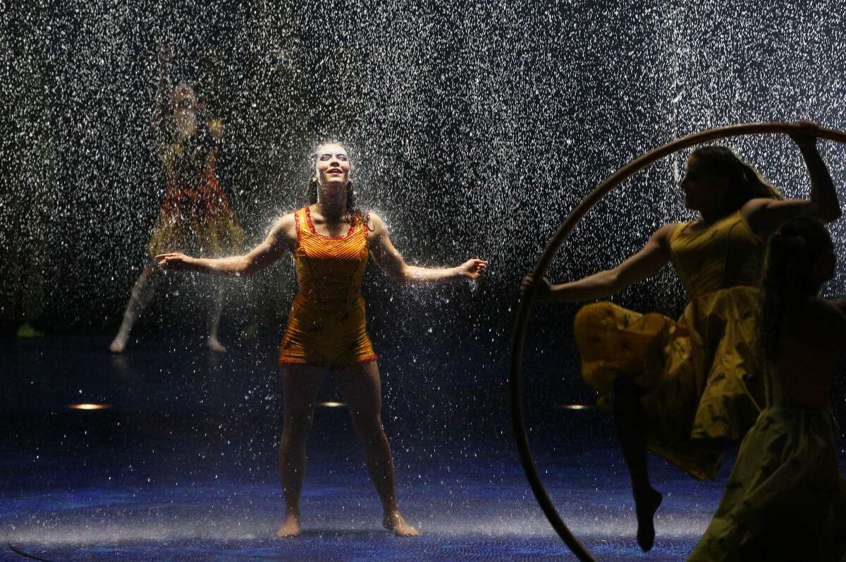 Cirque du Soleil cast members perform on opening night of LUZIA at Marymoor Park, Thursday, March 31, 2017. The show, which is inspired by Mexican culture, runs through May 21. (Genna Martin, seattlepi.com)