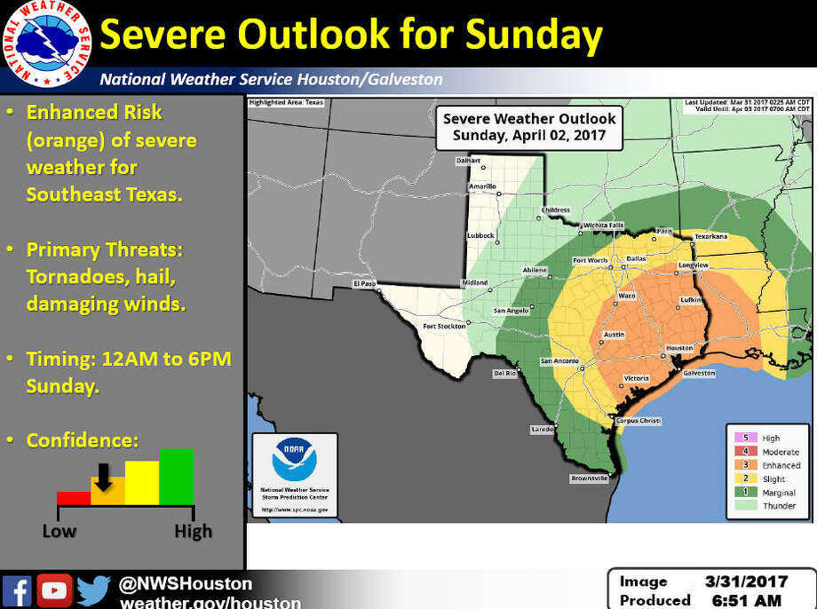 PHOTOS: Texas weather memesIf you have outdoor plans on Saturday night or Sunday morning and afternoon be advised that they may need to be moved indoors as Houston is set for another round of showers this weekend.Click through to see what happens when bad weather hits Texas... Photo: National Weather Service