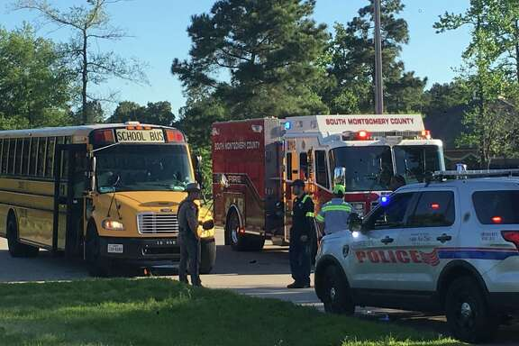 Children were injured Friday, March 31, 2017 in a school bus collision at the intersection Rayford Road and Wild Rose Drive in Spring, according to the Montgomery County Sheriff's Office, which responded to the crash