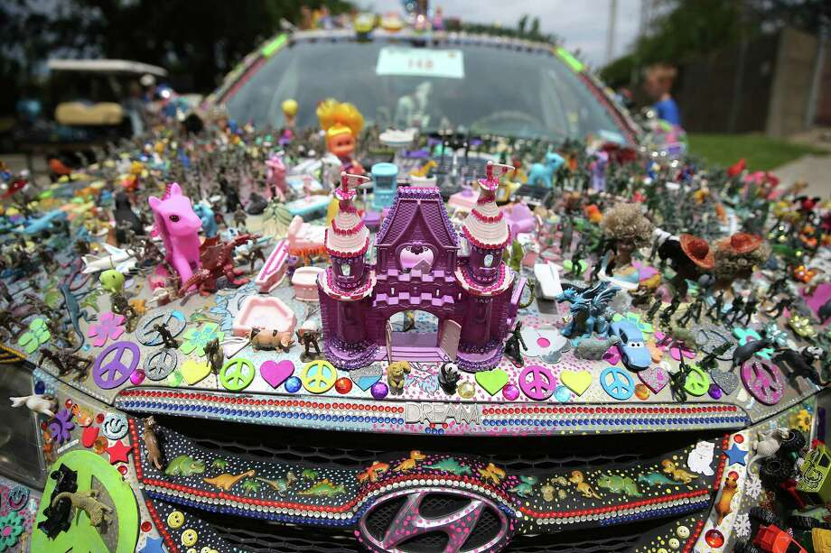 A toy-themed art car participating in the 29th Annual Houston Art Car Parade  on Saturday, April 9, 2016, in Houston. The parade featured a variety of decorated cars and other modes of transportation. ( Elizabeth Conley / Houston Chronicle ) Photo: Elizabeth Conley, Staff / © 2016 Houston Chronicle