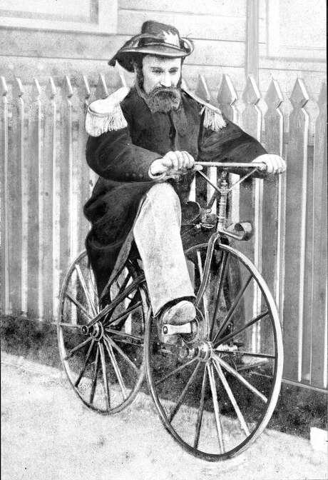 Emperor Norton on a bicycle. Photo: Xx