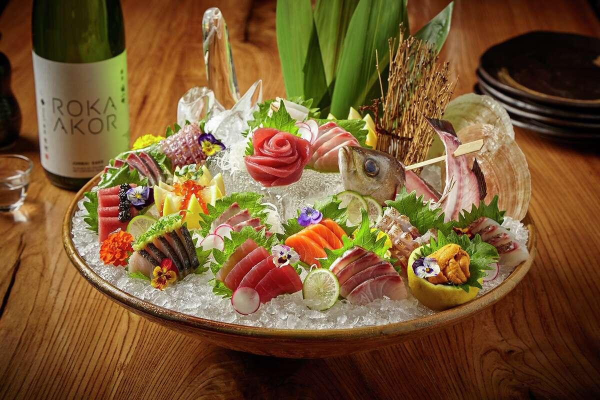 Roka Akor, a Japanese sushi and steak concept, will openJune 26, 2017,at 2929 Wesleyan. Shown: Sashimi platter.