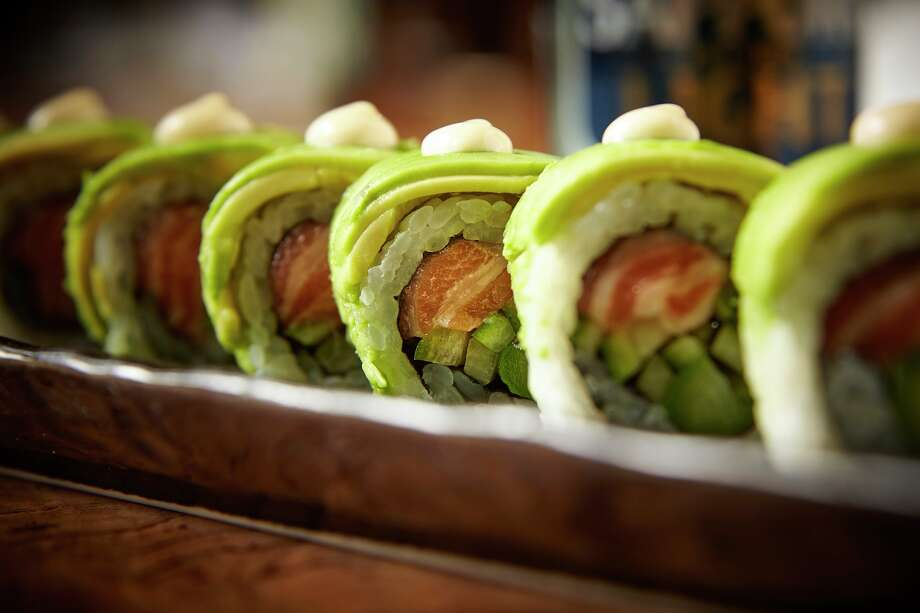 Roka Akor, a Japanese sushi and steak concept, will open June 26, 2017, at 2929 Wesleyan. Shown: Salmon Avocado Maki. Photo: Roka Akor / ©www.neiljohnburger.com
