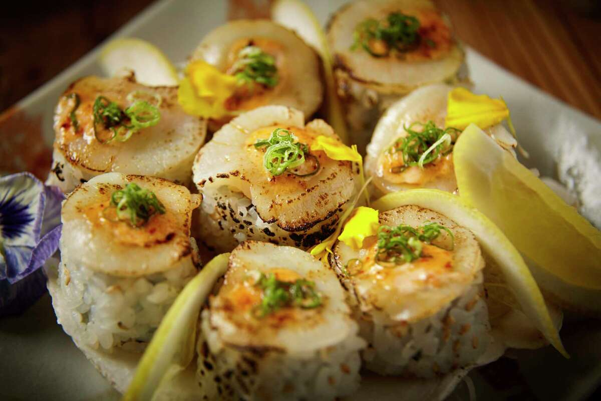 Roka Akor, a Japanese sushi and steak concept, will openJune 26, 2017,at 2929 Wesleyan. Shown: Dynamite Scallop Maki.