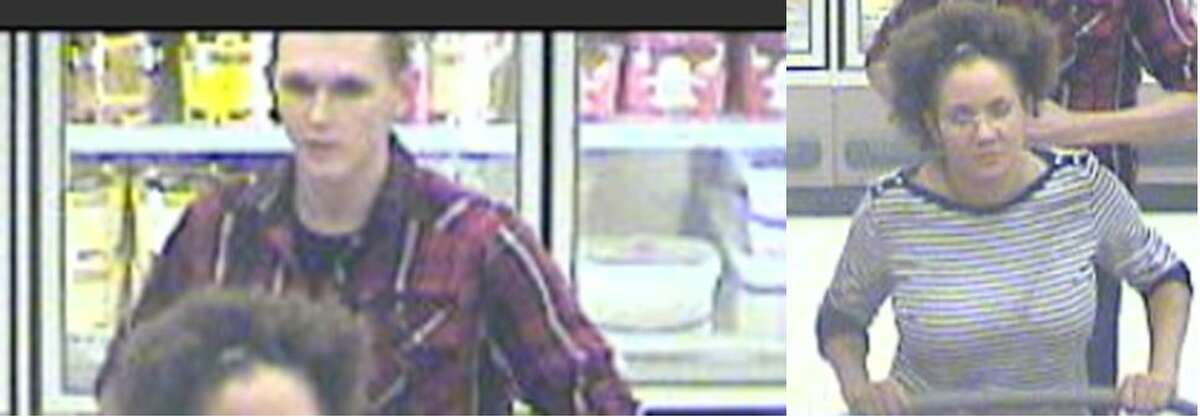 These two suspects are wanted by police for allegedly stealing headphones from a Target store on March 7, 2017.