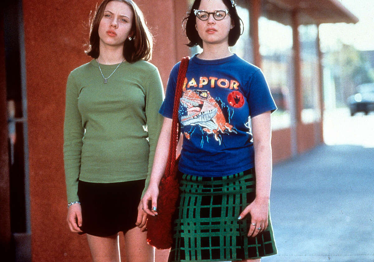 Scarlett Johansson and Thora Birch in a scene from the film 'Ghost World', (2001).