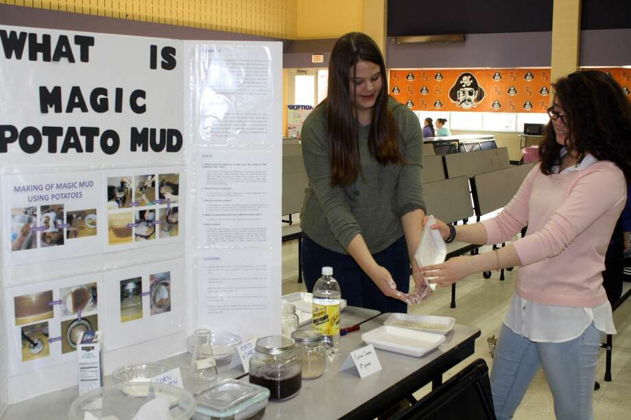 There were many creative projects at this year's annual Harbor Beach Science Fair for grades 4-8. Photo: Rich Harp/For The Tribune