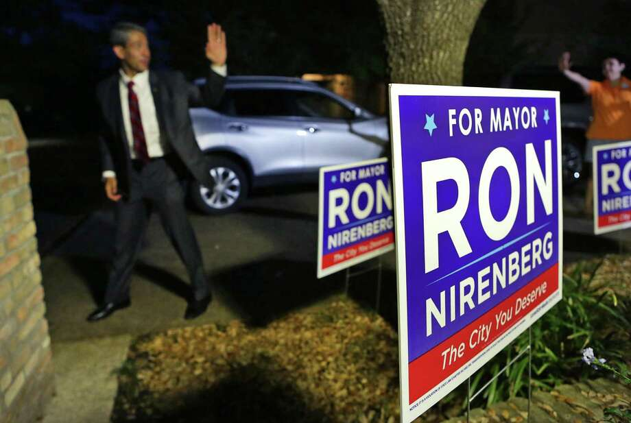 Ron Nirenberg, District 8 Councilman who is running for Mayor of San Antonio waves to supporters as he leaves an open house for him at the home of Ron and Gina Eisenberg on Wednesday, March 29, 2017. Photo: Bob Owen, Staff / San Antonio Express-News / ©2017 San Antonio Express-News