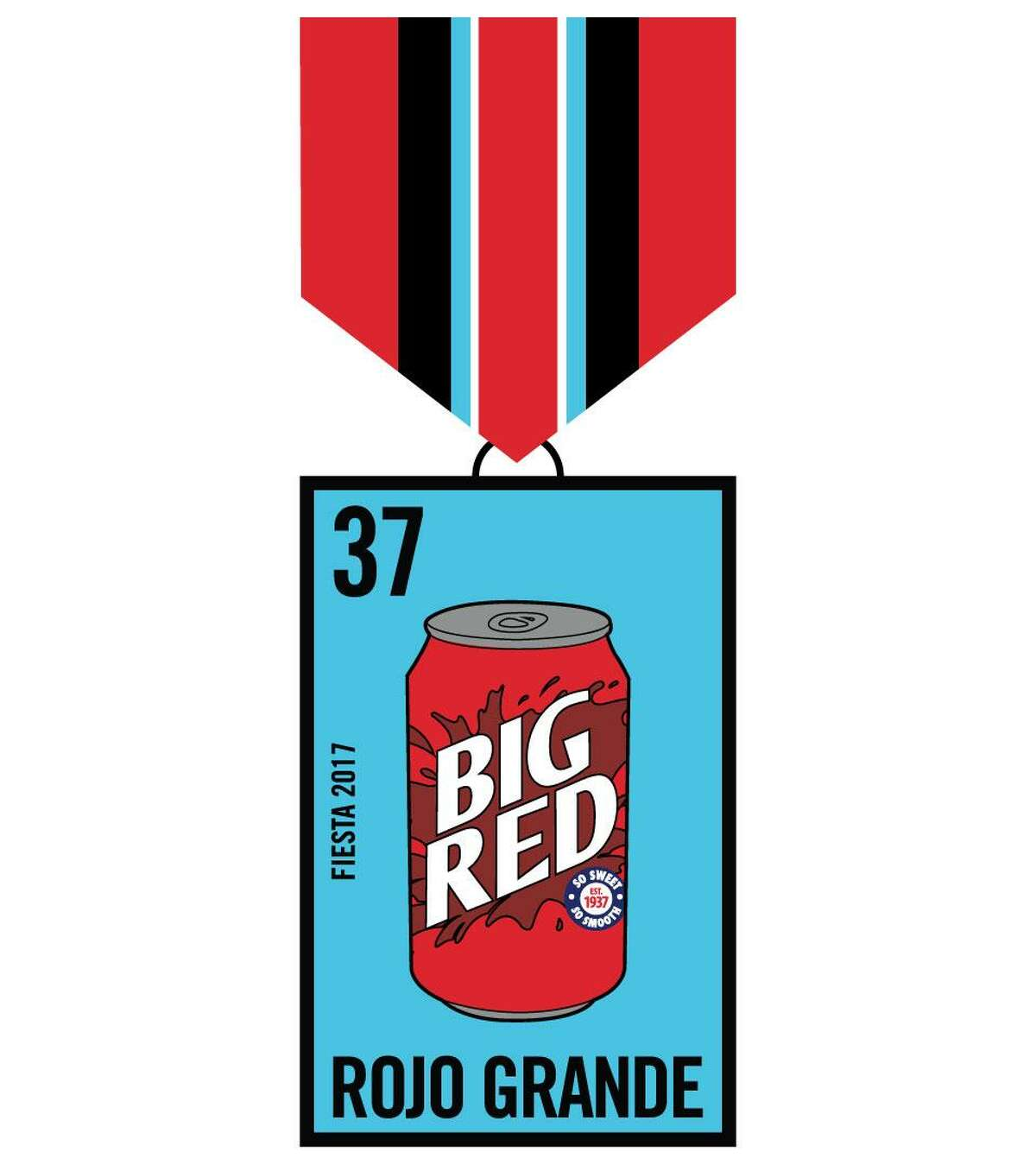 And here's the winning design for Big Red's Fiesta 2017 medal. San Antonio high school student Joely Montoya came up with the design, which depicts the soda as a lotería game card. Big Red is giving way 250 of the limited-edition medal in an online sweepstakes at bigred.com/fiesta, which runs through April 3, 2017.