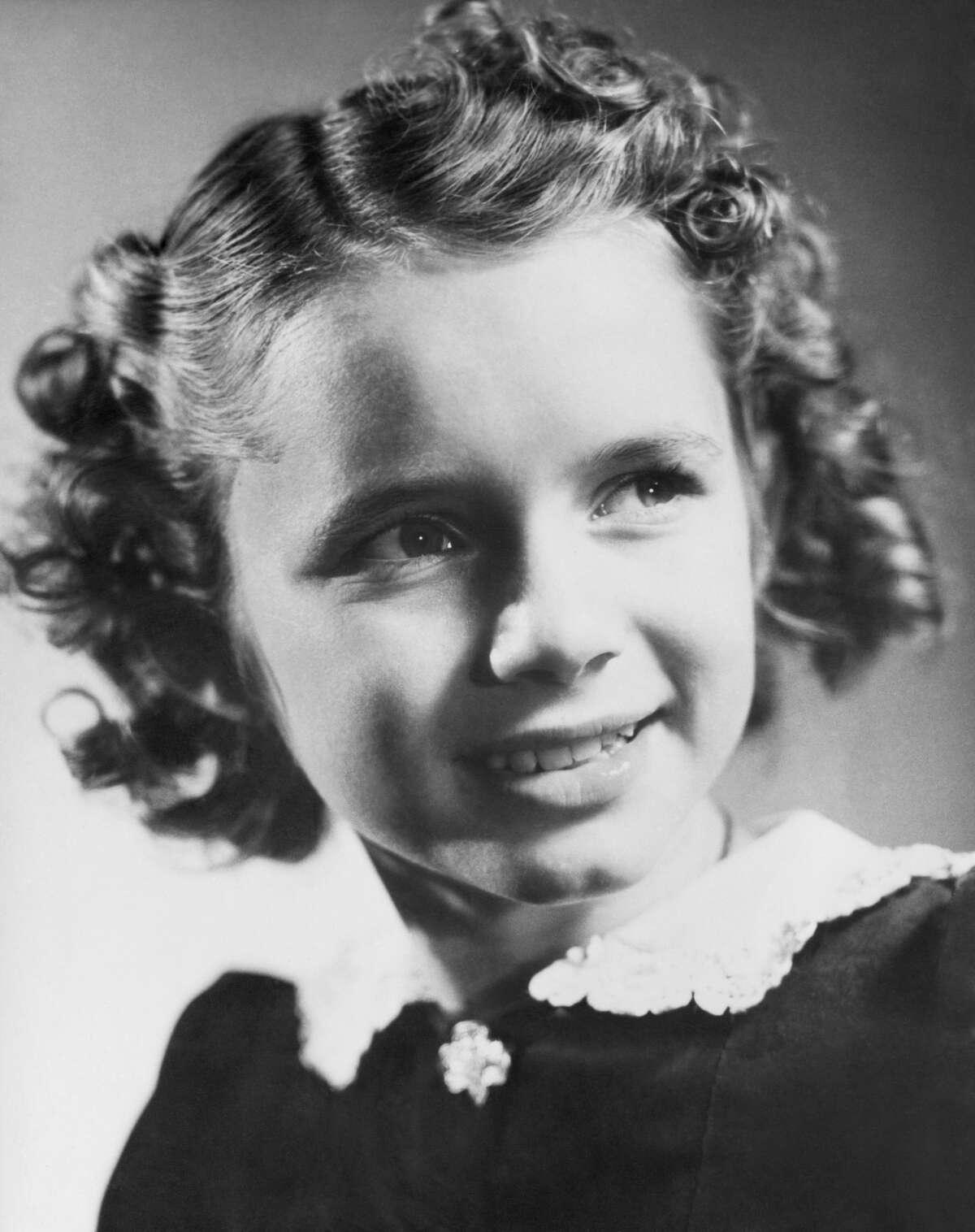 Debbie Reynolds as a child.