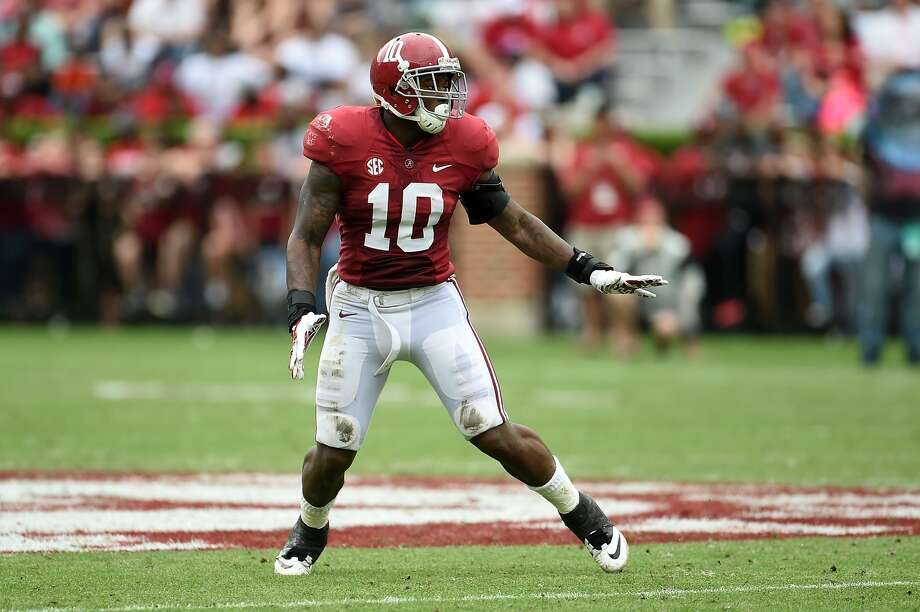NFL DRAFT: SIZING UP THE LINEBACKERSReuben Foster, ILB, 6-0, 229, 4.72, AlabamaHe has everything scouts love about linebackers who play in the middle in a 4-3 or inside in a 3-4. He's quick, fast and instinctive. Plays with a lot of passion. A hard hitter who has the agility to avoid blocks and stay on his feet. Very explosive. A vicious tackler. Never has to come off the field because he drops into coverage effortlessly. Should be the first linebacker taken. Photo: Stacy Revere/Getty Images