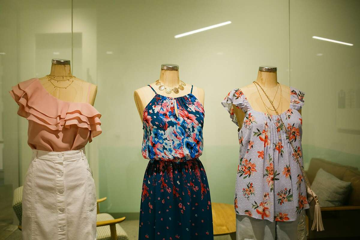 Manikins line the walls at the Stitch Fix in San Francisco, Calif. Friday, March 31, 2017.