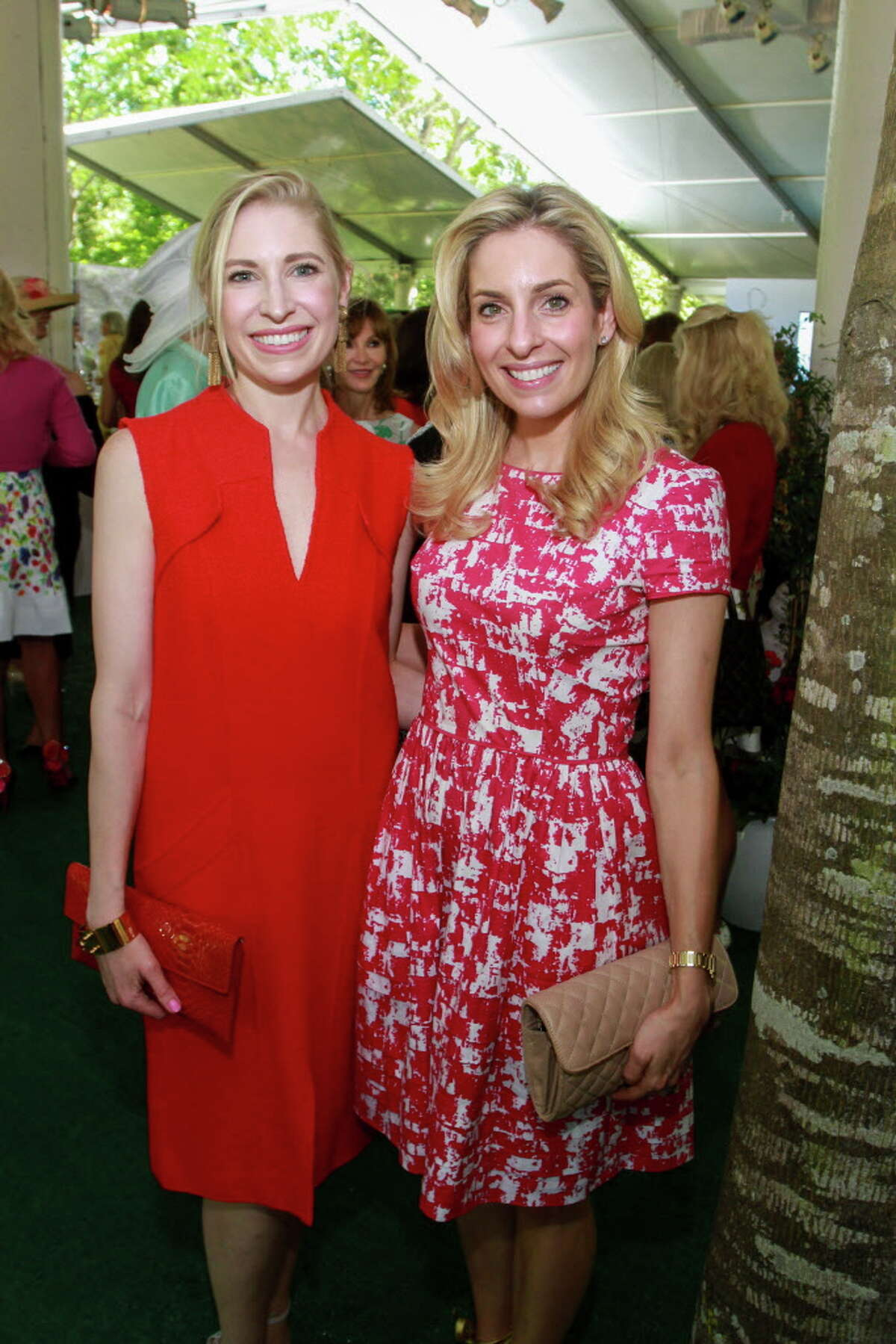 Isabel David and Luvi Wheelock at the Museum of Fine Arts Bayou Bend Fashion Show and Luncheon. (For the Chronicle/Gary Fountain, March 31, 2017)
