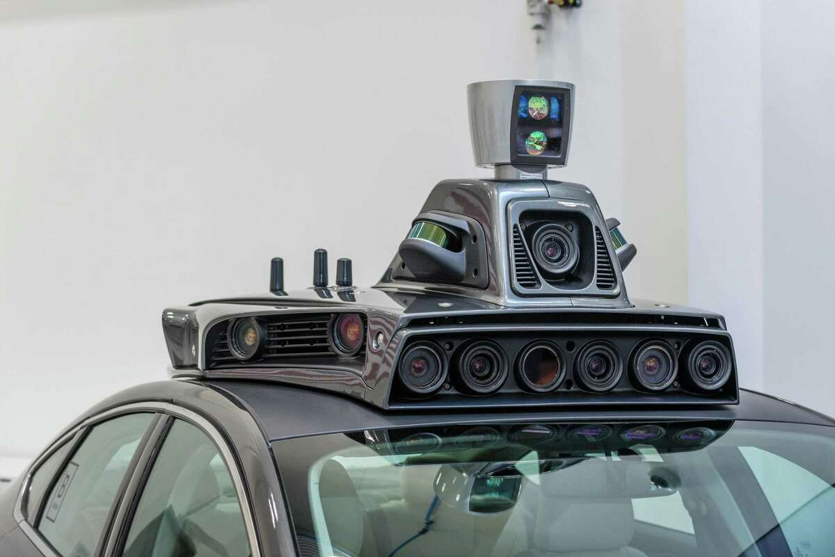 This file photo shows the cameras on a pilot model of an Uber self-driving car at the Uber Advanced Technologies Center in Pittsburgh. A reader is disturbed by the notion that motorists feel the need for self-driving cars.