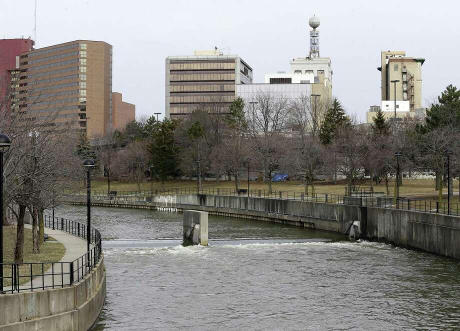 The Flint River in Flint, Michigan no longer has levels of lead exceeding the federal limit, authorities say. But Texas children — and children everywhere — may still be exposed because of pipes that deliver drinking water in schools and daycares. Photo: Carlos Osorio /Associated Press / Copyright 2017 The Associated Press. All rights reserved.