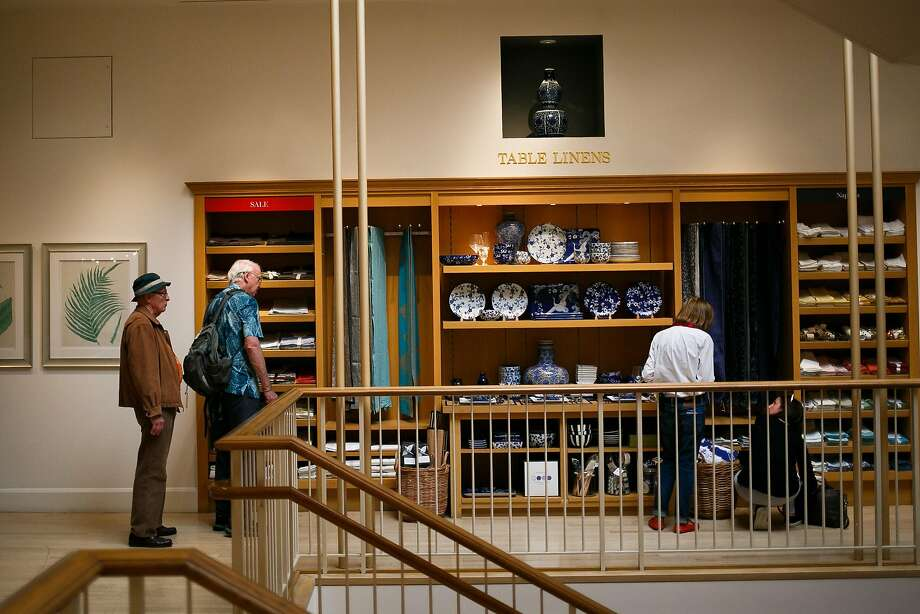 Shoppers browse through the table linen section of Williams-Sonoma in San Francisco, Calif. Friday, March 31, 2017. One key to the retailer's e-commerce success is the old-fashioned printed catalog. Photo: Mason Trinca, Special To The Chronicle