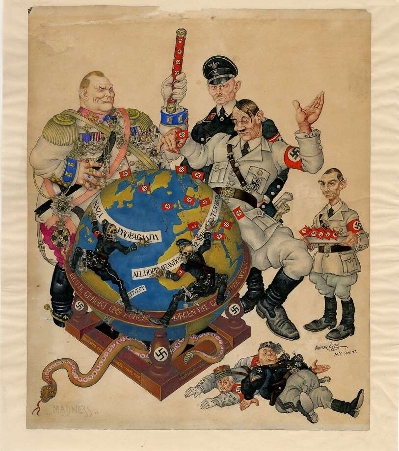 """""""Madness"""" (1941) is part of the Taube Family Arthur Szyk Collection acquired by the Magnes Collection of Jewish Art and Life at UC Berkeley. Photo: Courtesy Magnes Collection Of Jewish Art And Life"""