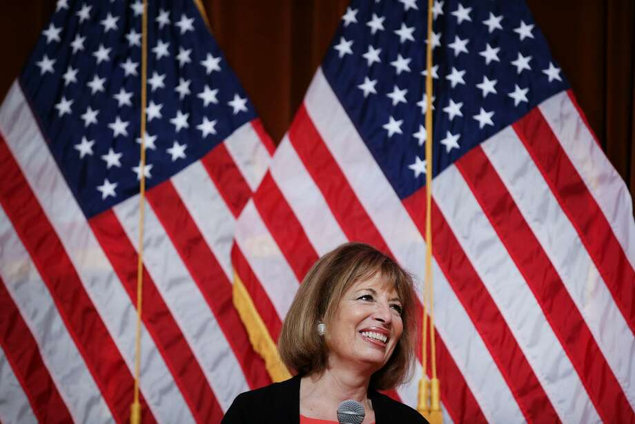 Jackie Speier during a town hall meeting at Balboa High School on Saturday, March 25, 2017, in San Francisco, Calif. Photo: Santiago Mejia, The Chronicle