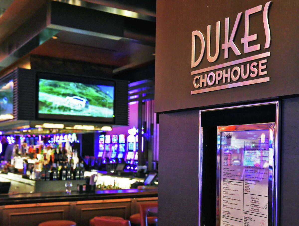 Dukes Chophouse at Rivers Casino & Resort , 1 Rush St., Schenectady. Phone: 579-8850 Web:www.riverscasinoandresort.com/dining/dukes. Entrance to Duke's Chophouse in Rivers Casino Thursday March 23, 2017 in Schenectady, NY. (John Carl D'Annibale / Times Union)