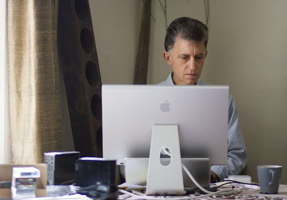 Percy Angress, works from his home office in Vallejo, Calif. on Friday, March 31, 2017. Angress uses Santa Rosa-based internet service provider Sonic, in part, because the company has publicly supported internet privacy issues and opposed legislation that may limit it. Photo: Chris Preovolos, Hearst Newspapers