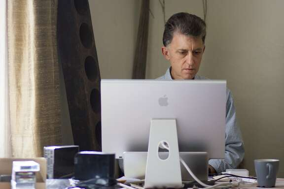 Percy Angress, works from his home office in Vallejo, Calif. on Friday, March 31, 2017. Angress uses Santa Rosa-based internet service provider Sonic, in part, because the company has publicly supported internet privacy issues and opposed legislation that may limit it.