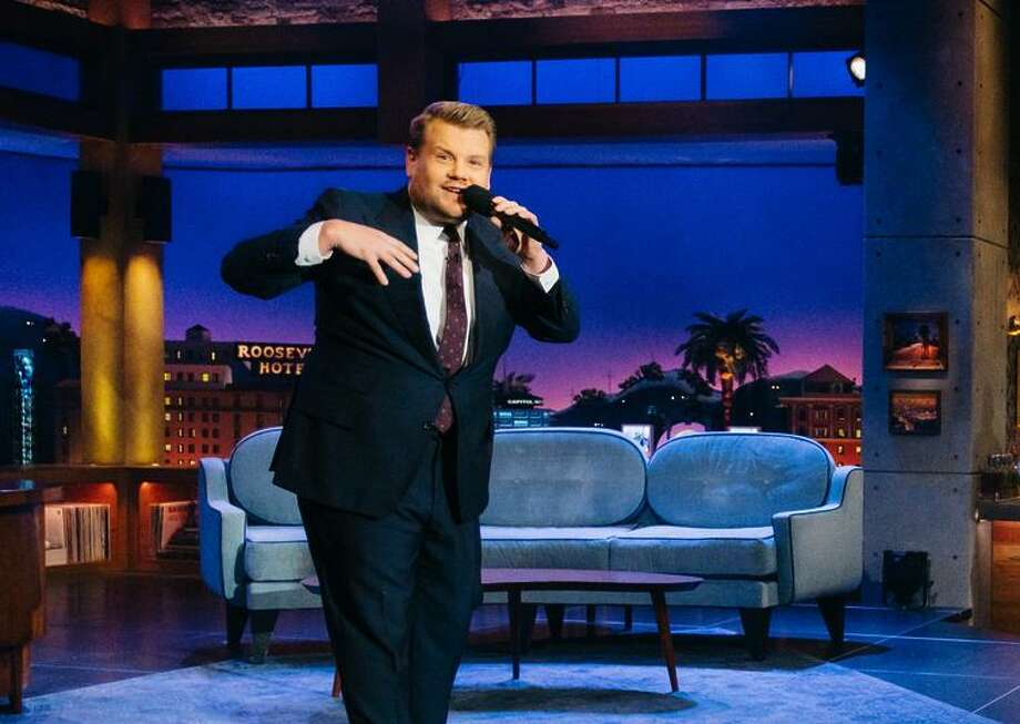 "James Corden will be joined by basketball greats on a special ""Late Late Show"" after the NCAA final. Photo: Terence Patrick / CBS / ©2017 CBS Broadcasting, Inc. All Rights Reserved"