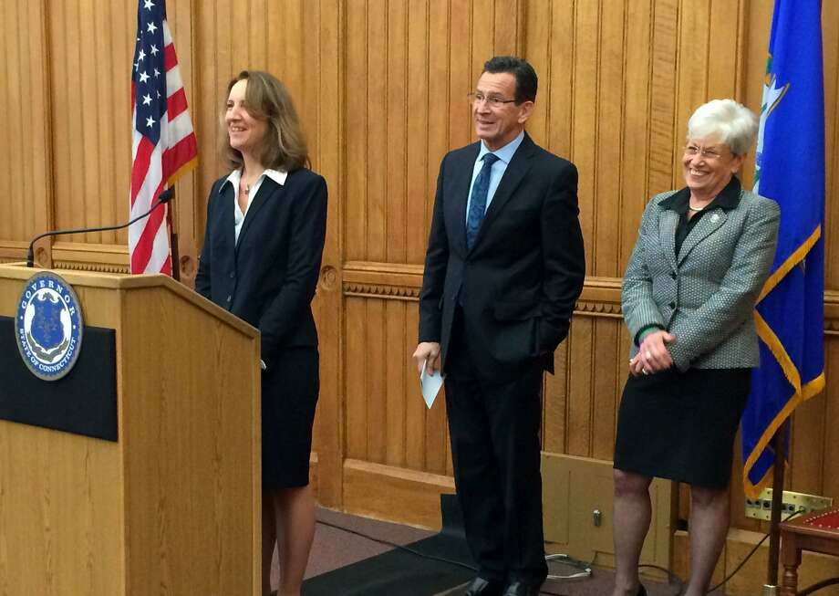 Karen Buffkin speaks after Gov. Dannel P. Malloy named her to serve as General Counsel in the Office of the Governor starting in 2015. Lt. Gov. Nancy Wyman, right, was also at the announcement. Photo: Contributed Photo / Connecticut Post Contributed