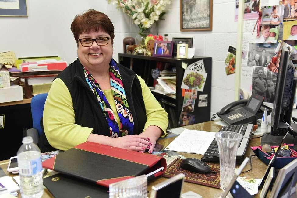 Elizabeth DelTorto sits in her office at Colonie Town Hall on Friday, March 31, 2017 in Colonie, N.Y. (Lori Van Buren / Times Union)