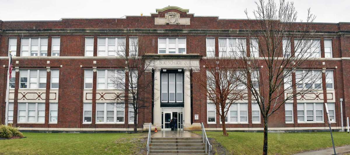 Exterior of North Albany Academy Friday March 31, 2017 in Albany, NY. (John Carl D'Annibale / Times Union)