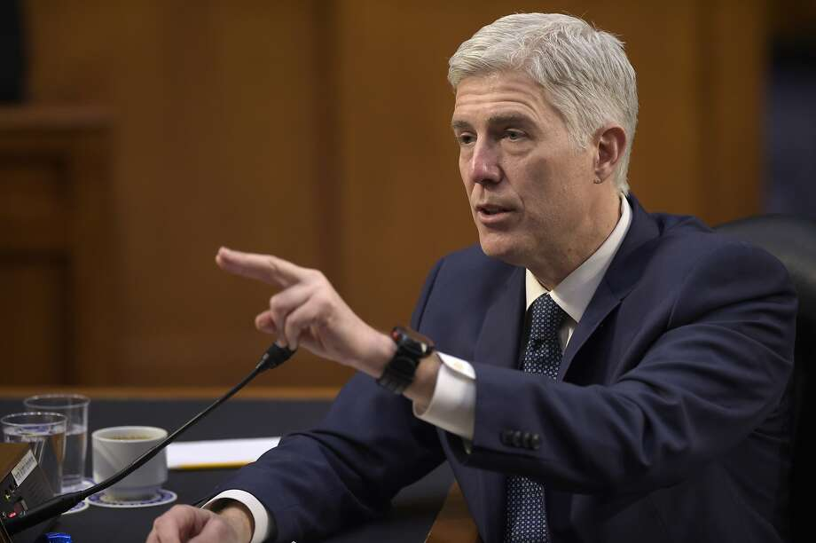 "The American Bar Association gave President Trump's Supreme Court nominee, Neil Gorsuch, its highest rating of ""well qualified."" Photo: Susan Walsh, Associated Press"