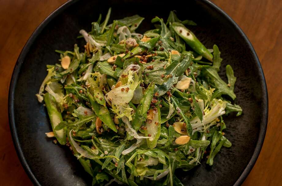 Wild arugula salad with asparagus at the Wolf. Photo: John Storey, Special To The Chronicle