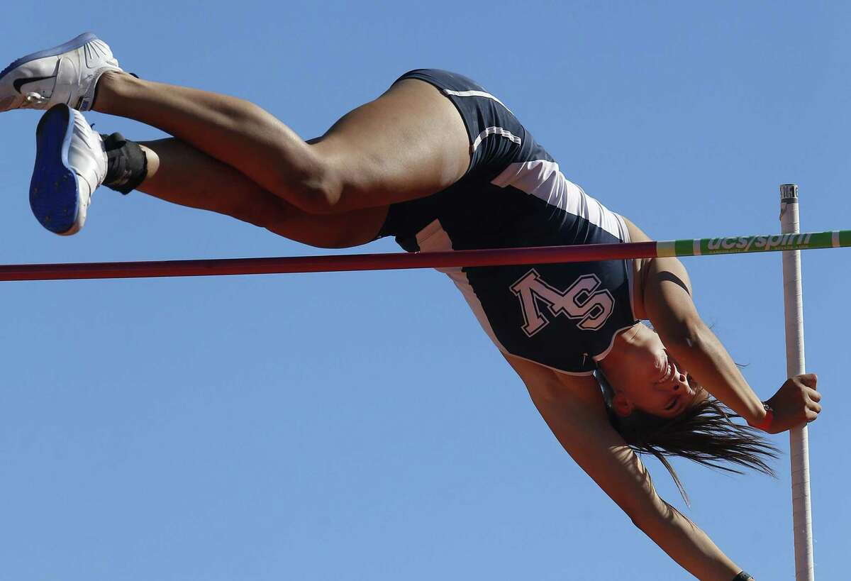 """Smithson Valley's Colleen Clancy finished third at the Texas Relays, after clearing 13-3 on her first try. """"I know I can get higher,"""" she said after her defeat."""